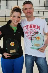 Vor Turnierbeginn wurden die Landesmeister der Saison 2013/2014 geehrt: Doppeltitelträger ist der USV Potsdam!