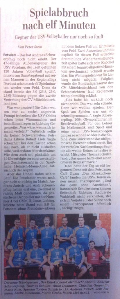 Erschienen am 26.11.2014 im Lokalteil Potsdam der Märkischen Allgemeinen Zeitung