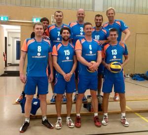 Das Team des USV am 26.09.2015 kurz vor Anpfiff der Partie beim VfK Südwest.