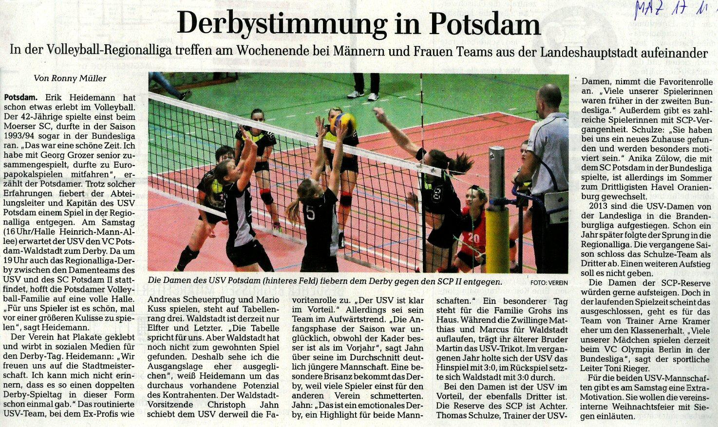 Erschienen in der Märkischen Allgemeinen Zeitung (Lokalteil Potsdam) am 17.11.2015