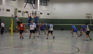 Block zu: Die Männer setzen sich 3:1 gegen den BVV durch.