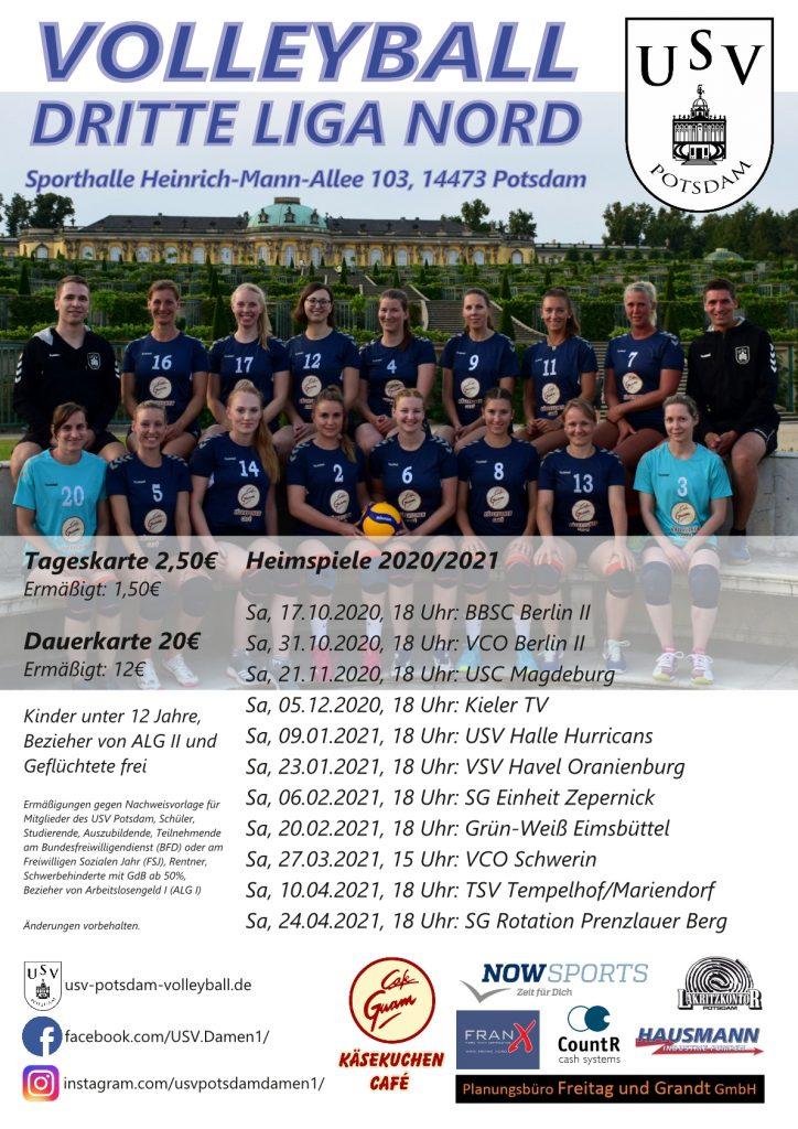 Die Heimspieltermine der 1. Damen in der Saison 2020/2021